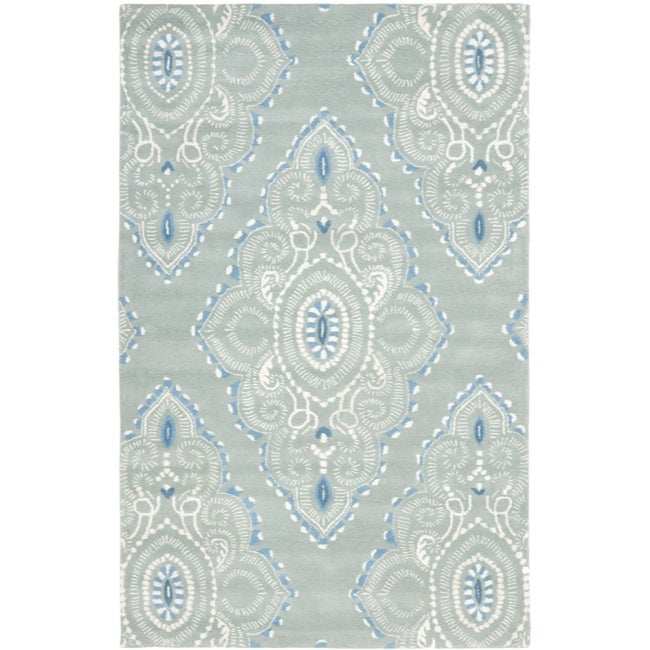 Safavieh Handmade Chatham Mystic Blue New Zealand Wool Rug (5' x 8')