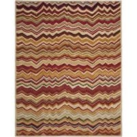 Safavieh Handmade Chatham Zig-Zag Red New Zealand Wool Rug - 8' x 10'