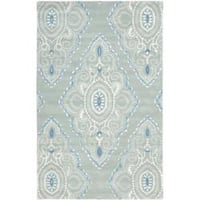 Safavieh Handmade Chatham Mystic Blue New Zealand Wool Rug - 5' x 8'