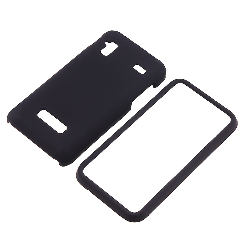 Black Snap-on Rubber Coated Case for Samsung Captivate Glide i927