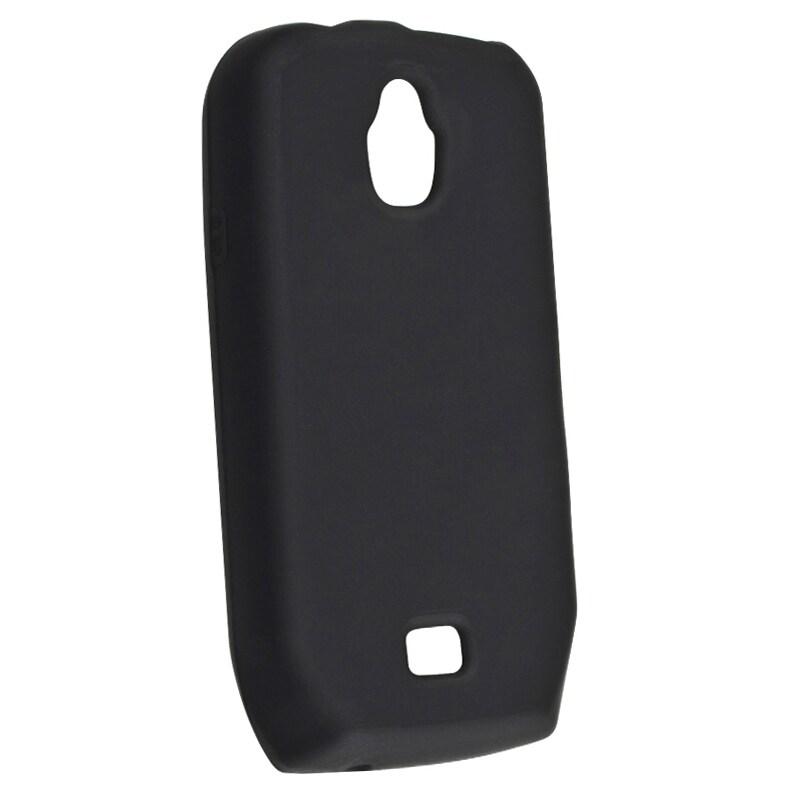 Black Silicone Skin Case for Samsung T759 Exhibit 4G
