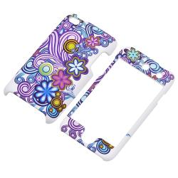 Flower Vine Rubber Coated Case for Apple iPod Touch Generation 4 - Thumbnail 1
