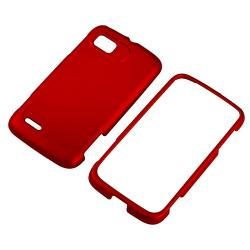 Red Snap-on Rubber Coated Case for Motorola Atrix 2 MB865 - Thumbnail 1