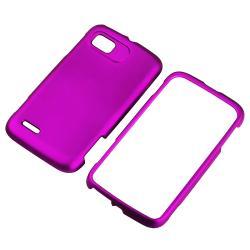 Purple Snap-on Rubber Coated Case for Motorola Atrix 2 MB865 - Thumbnail 1