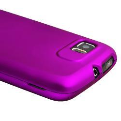 Purple Snap-on Rubber Coated Case for Motorola Atrix 2 MB865 - Thumbnail 2