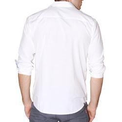 191 Unlimited Men's White Cotton-blend Shirt - Thumbnail 1
