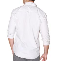 191 Unlimited Men's Off-white Military-ispired Slim-fit Woven Shirt