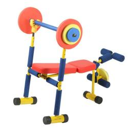 Fun and fitness kid 39 s weight bench set free shipping today 14143627 Kids weight bench