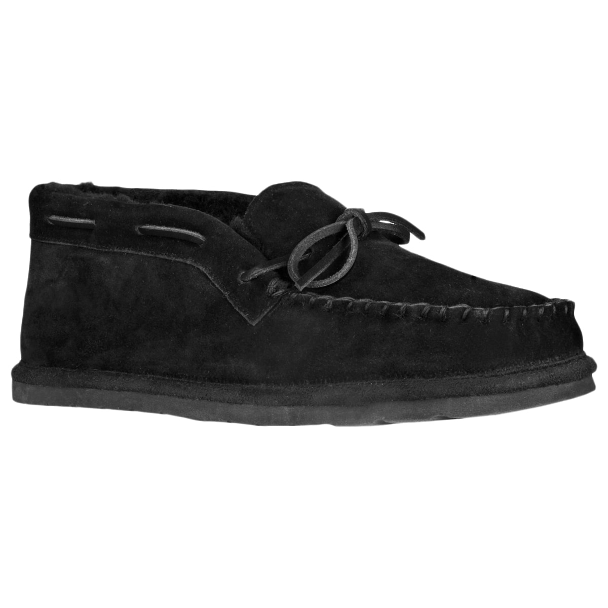 Lugz Men's 'Dudley' Suede Black Slippers - Thumbnail 0