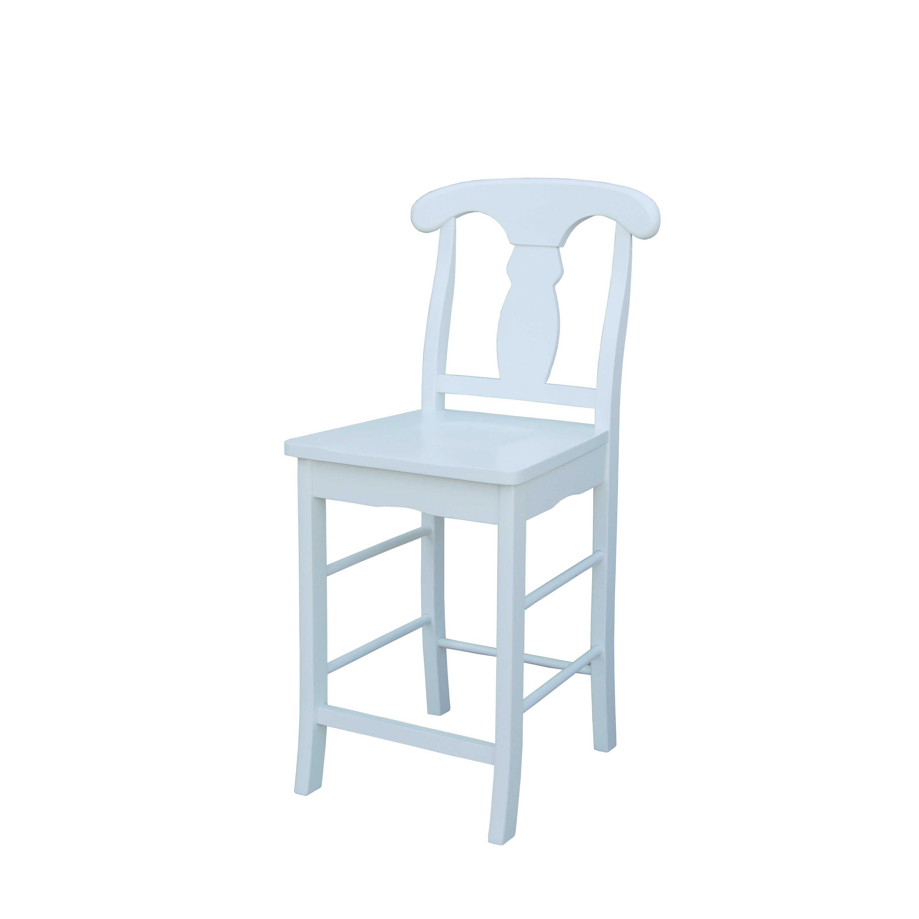 Simple Living Empire White 24-inch Stool