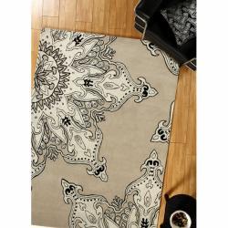 nuLOOM Handmade Moda Beige New Zealand Wool Rug (7'6 x 9'6)