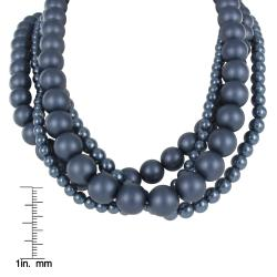 Roman Colored Faux Pearl 4-piece Necklace - Thumbnail 2