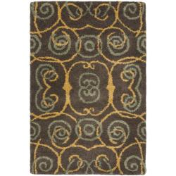 Safavieh Handmade Rodeo Drive Brown New Zealand Wool Rug (2' x 3')