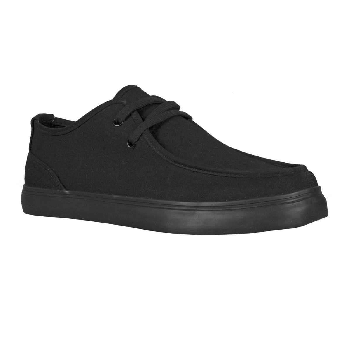Lugz Mens Sparks Canvas Black Shoes