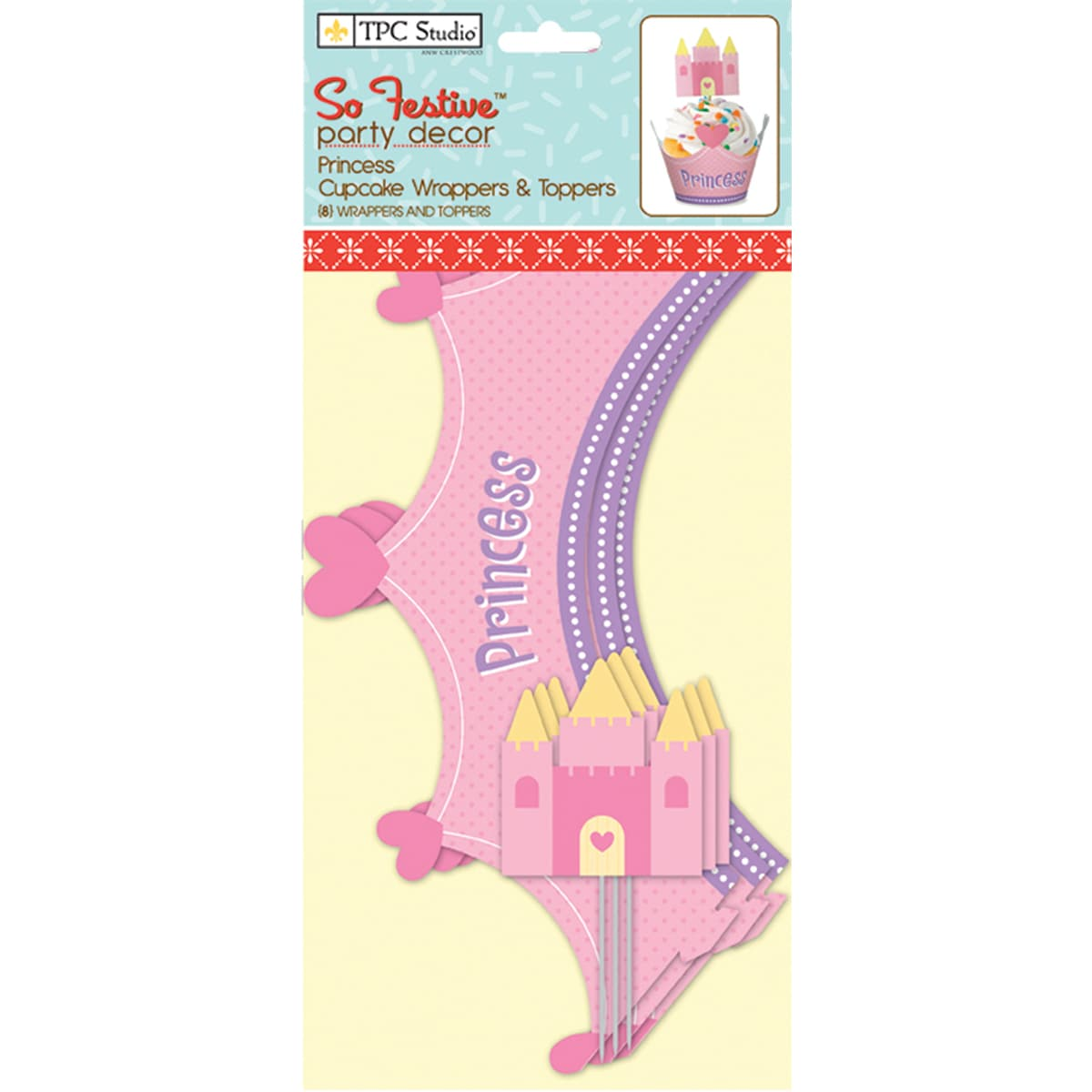 Westrim Crafts Princess Cupcake Wrappers and Toppers