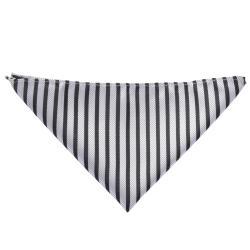 Boston Traveler Men's Diagonal Stripe Microfiber Tie and Hanky Set - Thumbnail 1