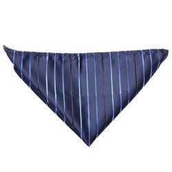Boston Traveler Men's Diagonal Pinstripe Microfiber Tie and Hanky Set