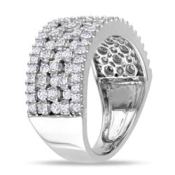 Miadora 14k White Gold 1 1/3ct TDW Diamond Fashion Ring (H-I, SI1-SI2) - Thumbnail 1