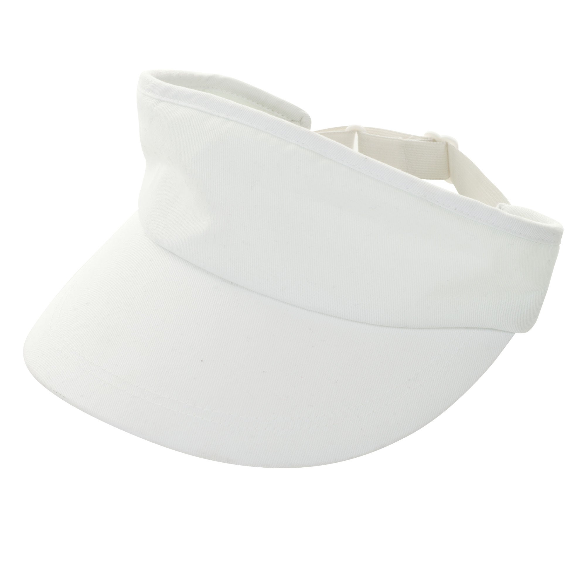 Toppers Set of Three Classic White Adjustable Cotton Tennis Visors