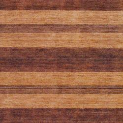 Indo Hand-knotted Tibetan Brown Wool Rug (4' x 6') - Thumbnail 1