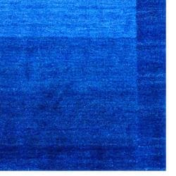 Indo Hand-knotted Tibetan Blue Wool Rug (4' x 6')