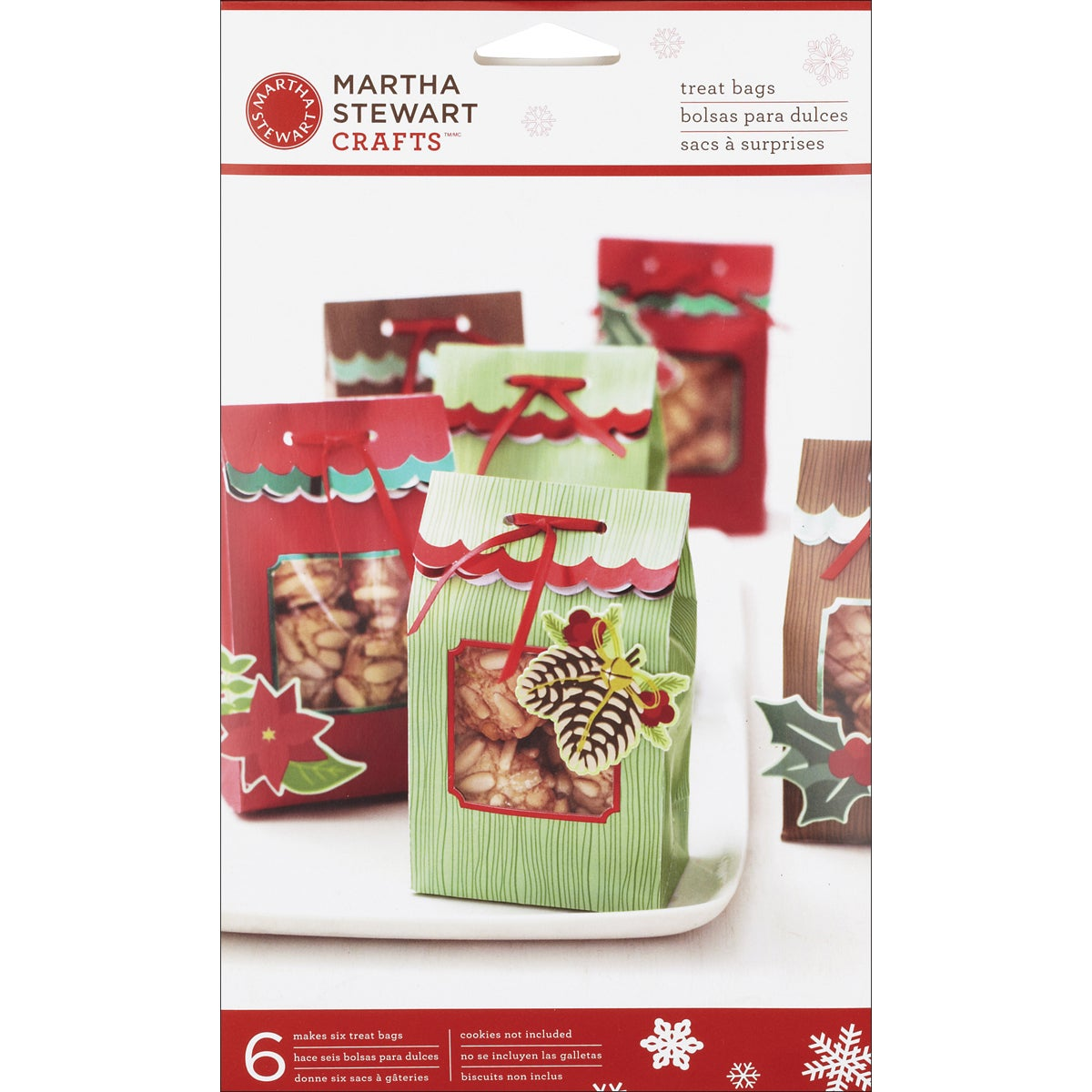 Die Cut Treat Bags 6/Pkg-Woodland