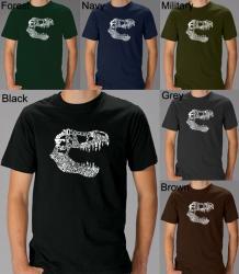 Los Angeles Pop Art Men's T-Rex Dinosaur Cotton T-Shirt (3 options available)
