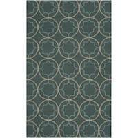 Hand-hooked Gray Petitot Indoor/Outdoor Moroccan Trellis Area Rug (8' x 10')