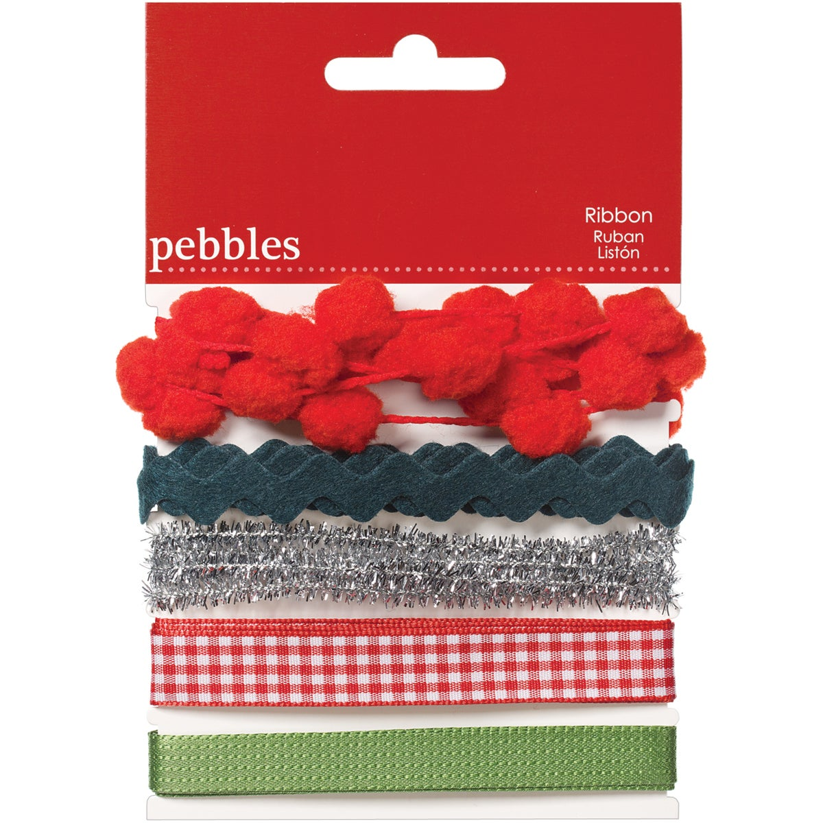 Pebbles 'Welcome Christmas' 1-yard Ribbons (Pack of 5)