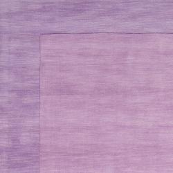 Hand-crafted Purple Tone-On-Tone Bordered Emeto Wool Rug (3'3 x 5'3) - Thumbnail 1