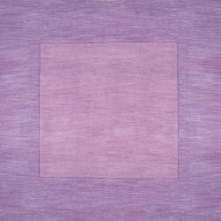Hand-crafted Purple Tone-On-Tone Bordered Emeto Wool Rug (3'3 x 5'3) - Thumbnail 2