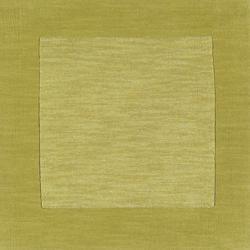 Hand-crafted Green Tone-On-Tone Bordered Eluro Wool Rug (9' x 13') - Thumbnail 2