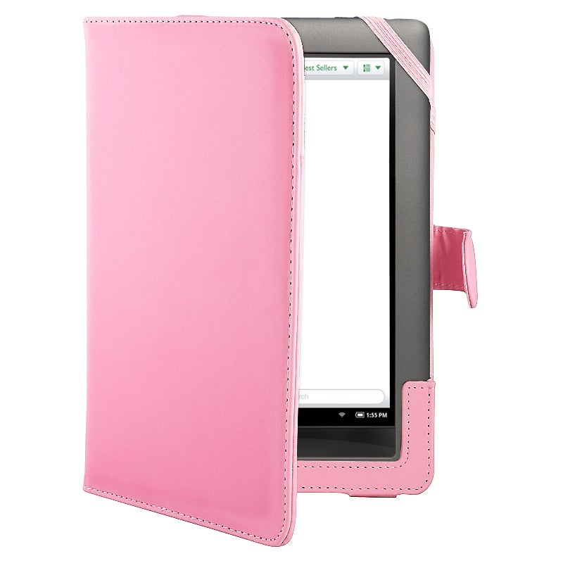 Pink Leather Protective Accessory Case for Barnes and Noble Nook Color