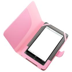 Pink Leather Protective Accessory Case for Barnes and Noble Nook Color - Thumbnail 1