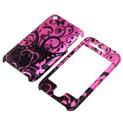 Purple/ Black Swirl Snap-on Case for Apple iPhone 3G/ 3GS - Thumbnail 1