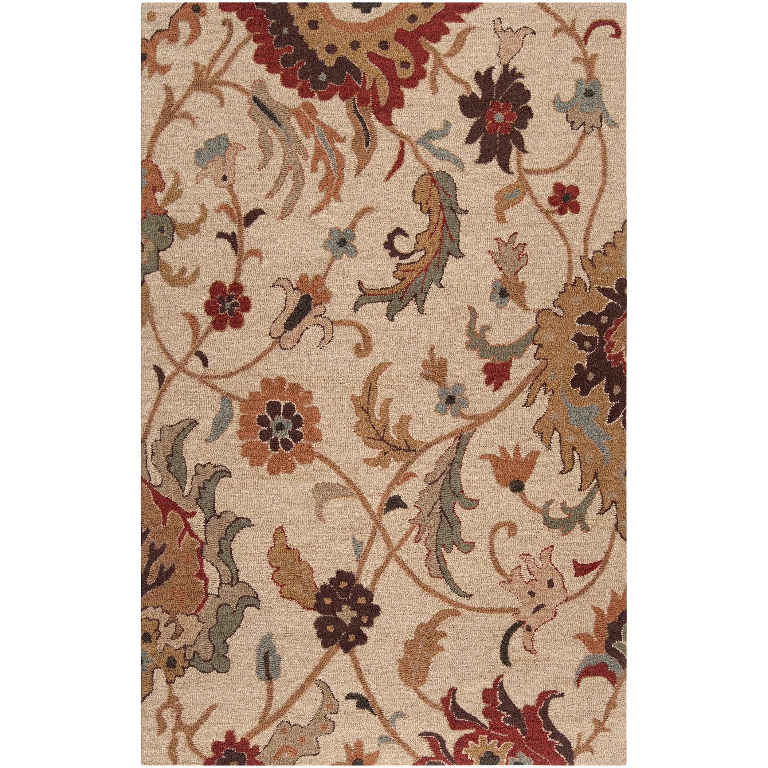 Hand-tufted Tan Basics Wool Rug (3'3 x 5'3)