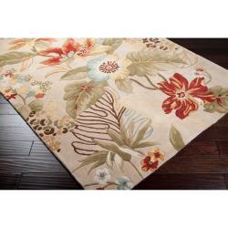 Hand-tufted Beige Oregano Wool Rug (5' x 8')