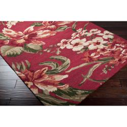 Hand-tufted Red Stews Wool Rug (3'3 x 5'3) - Thumbnail 1