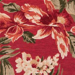 Hand-tufted Red Stews Wool Rug (3'3 x 5'3) - Thumbnail 2