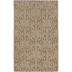 Hand-tufted Brown Lysso New Zealand Wool Rug (3'3 x 5'3)
