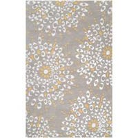 Hand-tufted Contemporary Gray Zandoline New Zealand Wool Abstract Area Rug (3'3 x 5'3)