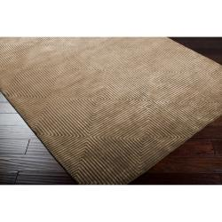 Hand-knotted Green Aviato Geometric Wool Rug (4' x 6') - Thumbnail 1