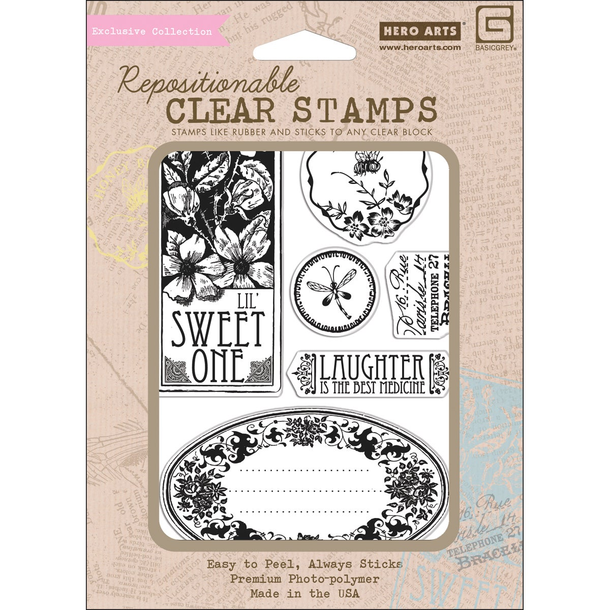 Hero Arts 'Out Of Print Collection- Sweet One' Clear Stamps