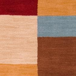 Hand-tufted Contemporary Multi Colored Squares Automaton Wool Geometric Rug (9' x 13') - Thumbnail 2