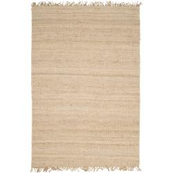 Hand-woven White Agraph Natural Fiber Jute Rug (4' x 6')