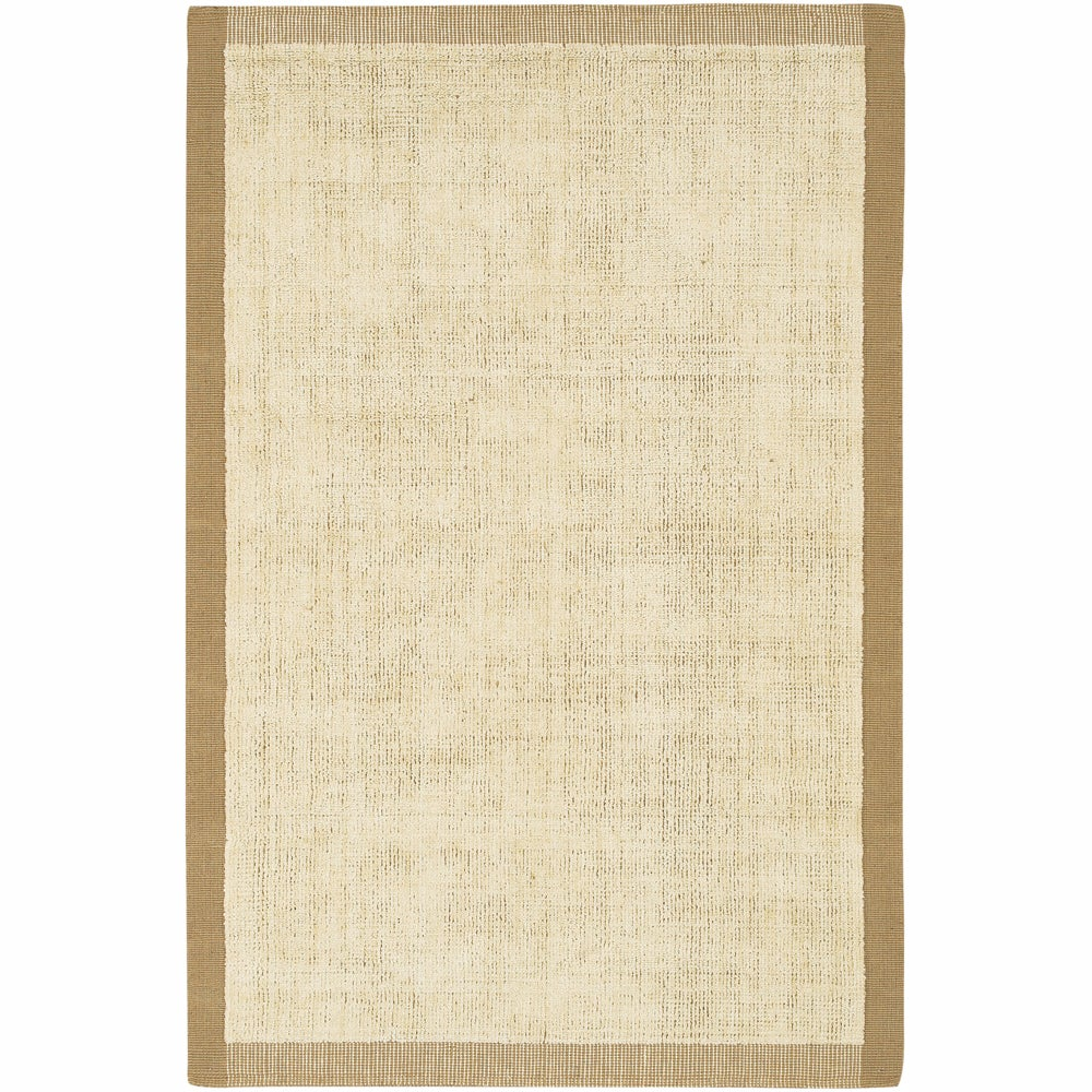 Artist's Loom Hand-woven Contemporary Border Natural Eco-friendly Jute Rug (5'x7'6)