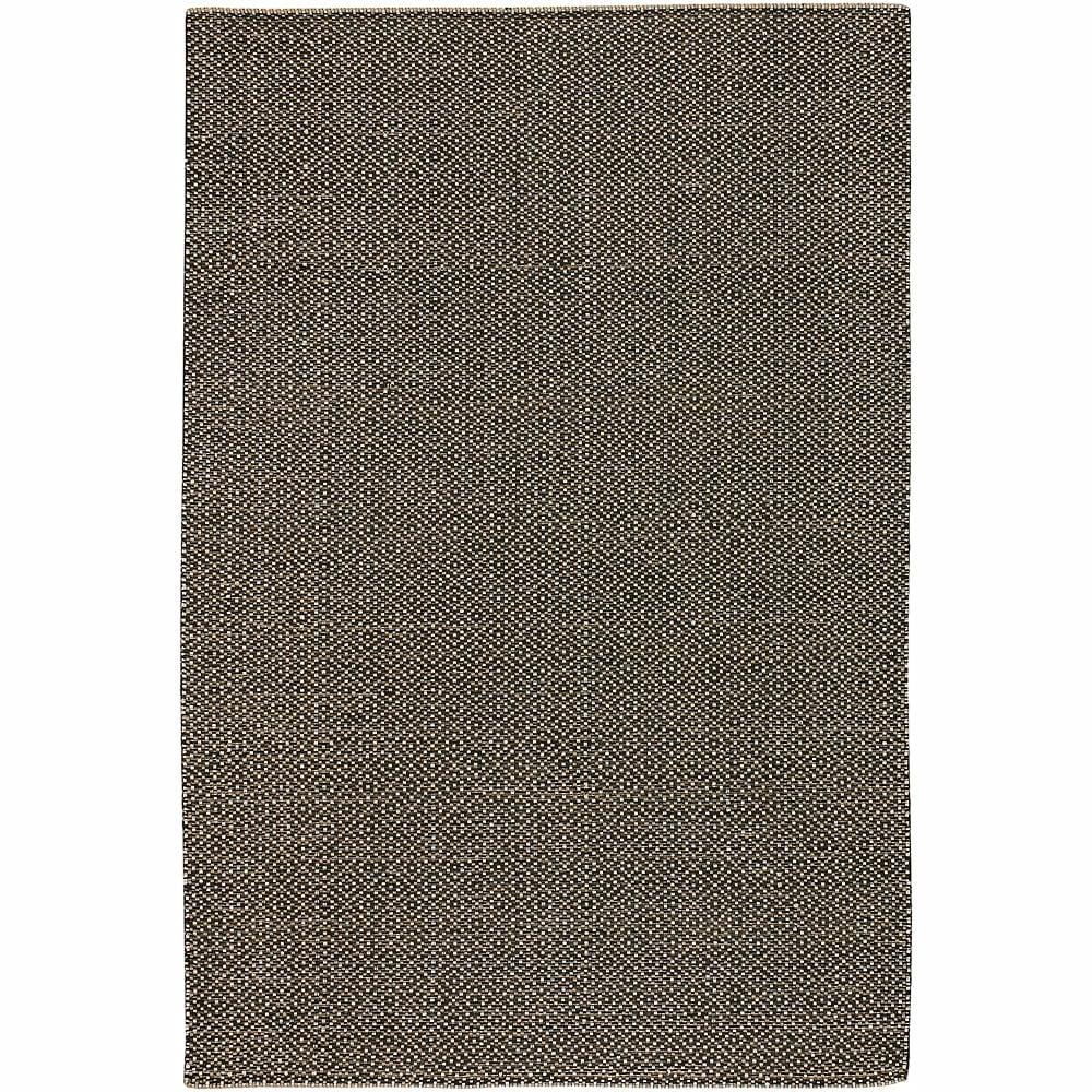 Hand-woven Mandara Black Rug (9' x 13')