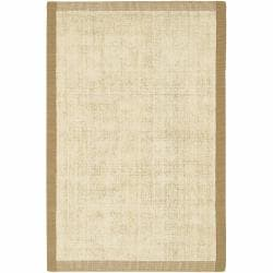 Artist's Loom Hand-woven Contemporary Border Natural Eco-friendly Jute Rug (7'9x10'6) - Thumbnail 0
