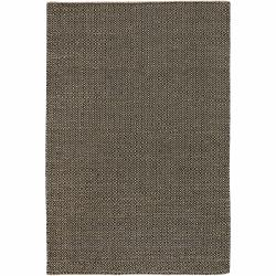 Hand-woven Mandara Black Rug (9' x 13') - Thumbnail 0