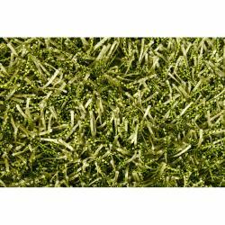 Hand-woven Mandara Green Shag Rug (5' x 7'6) - Thumbnail 2
